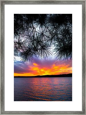 Tropical Sunset Vertical Framed Print