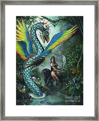 Tropical Temptress Framed Print