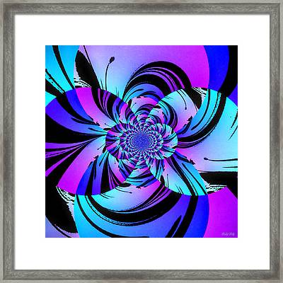 Framed Print featuring the digital art Tropical Transformation by Kathy Kelly