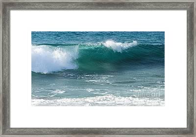 Tropical Treasure Coast Florida Seascape Wave 99 Framed Print