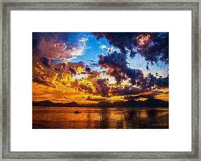 Tropical Twilight I Framed Print