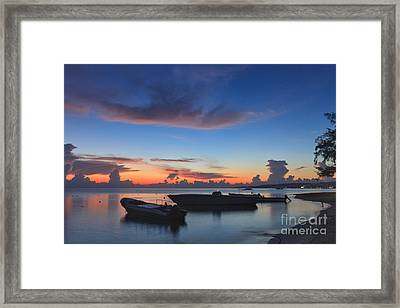 Tropical Twilight Two Framed Print