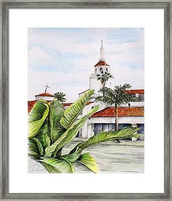 Tropical View Arlington Theater Santa Barbara Framed Print