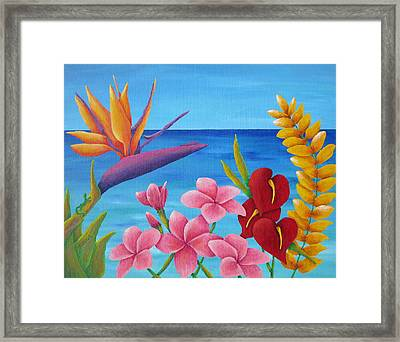 Tropical View Framed Print by Pamela Allegretto