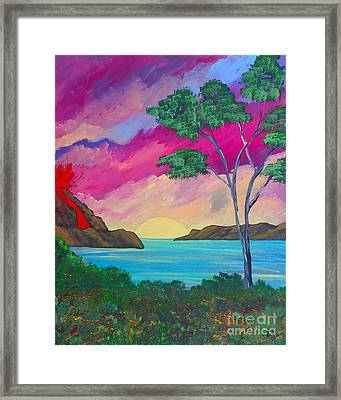 Tropical Volcano Framed Print