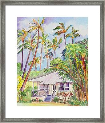 Tropical Waimea Cottage Framed Print by Marionette Taboniar