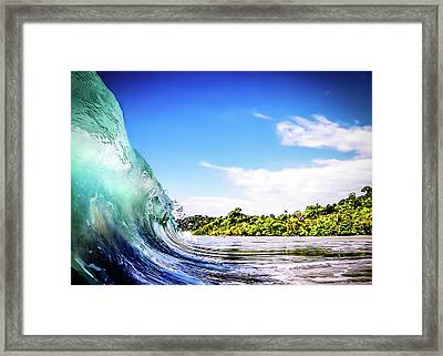 Tropical Wave Framed Print