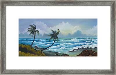 Tropical Wind Framed Print by George Bloise