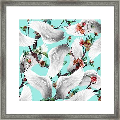 Tropical Wing Floral  Framed Print by Mark Ashkenazi