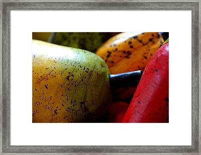 Tropical Wooden Fruits Framed Print by Valmir Ribeiro