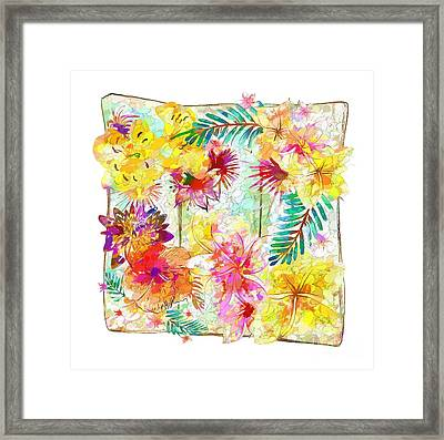 Tropicana Abstract By Kaye Menner Framed Print