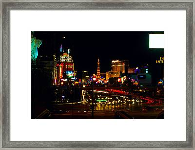 Tropicana Ave Framed Print by Edwin Voorhees