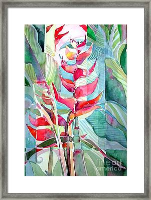 Tropicana Red Framed Print by Mindy Newman