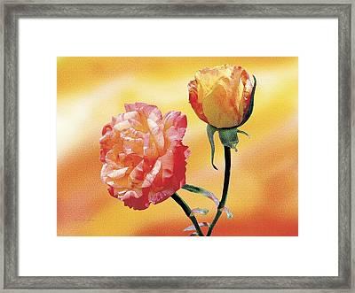 Tropicana Roses 2 Framed Print by Jan Baughman
