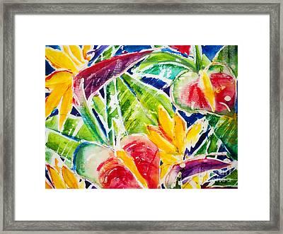 Tropics - Floral Framed Print by Julie Kerns Schaper - Printscapes