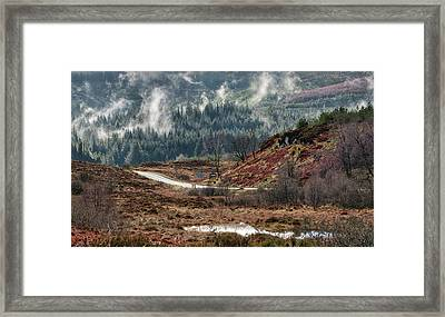 Framed Print featuring the photograph Trossachs National Park In Scotland by Jeremy Lavender Photography