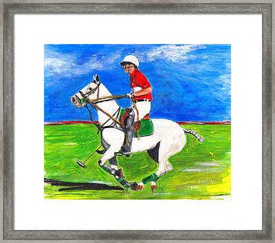 Framed Print featuring the painting Trot by Debora Cardaci