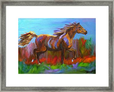 Trotting Framed Print