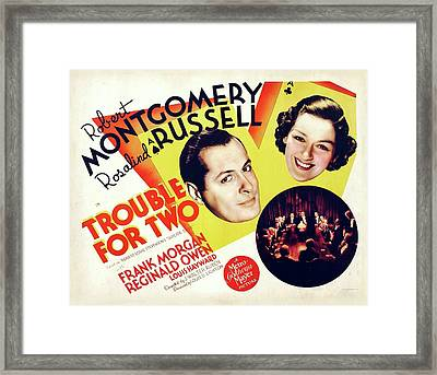 Trouble For Two 1936 Framed Print