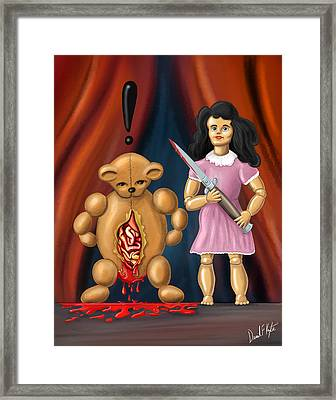 Trouble In Toyland Framed Print by David Kyte