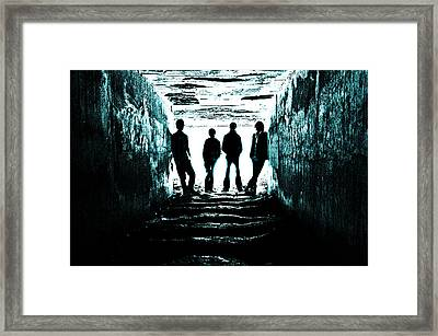 Trouble Framed Print by Meirion Matthias