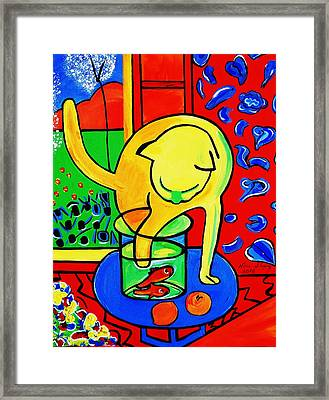 Trouble Framed Print by Nora Shepley