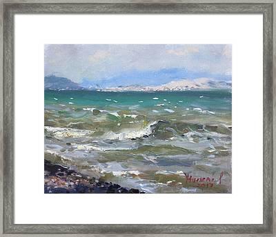 Troubled Aegean Sea Greece Framed Print