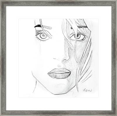 Troubled Eyes Framed Print