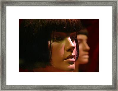Troubled Not Angry Framed Print by Jez C Self