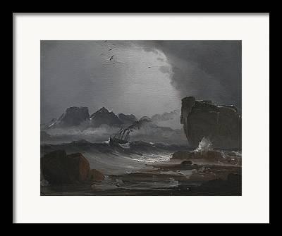 Norwegian Coast Framed Prints