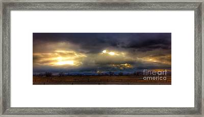 Troubled Skies Over Idaho Framed Print