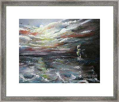 Troubled Waters Complete Framed Print