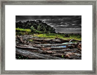 Troubled Waters Framed Print by DeWayne Beard