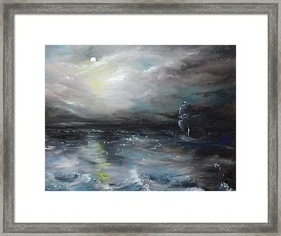 Framed Print featuring the painting Troubled Waters by Isabella F Abbie Shores FRSA