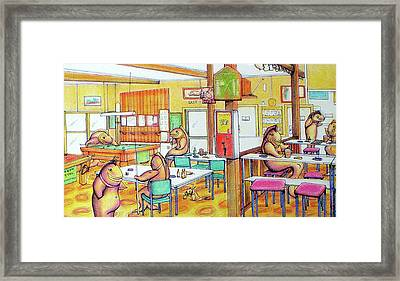 Trout Hotel Canvastown Framed Print by Barbara Stirrup