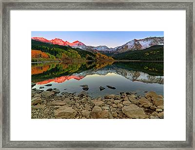 Framed Print featuring the photograph Trout Lake Reflections - Colorado - Rocky Mountains by Jason Politte