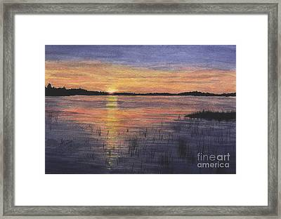 Trout Lake Sunset II Framed Print