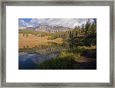 Trout Lake, Yellowstone National Park Framed Print