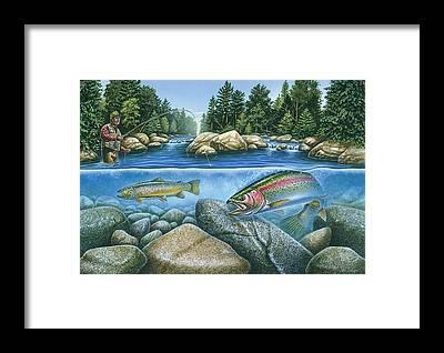 River Framed Prints