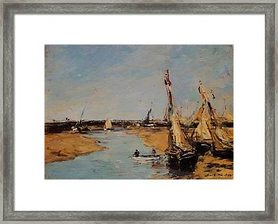 Trouville The Jettys At Low Tide Framed Print