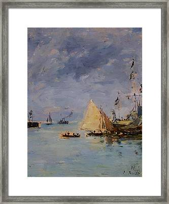 Trouville The Jettys High Tide 1897 Framed Print