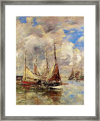 Trouville The Jettys High Tide Framed Print