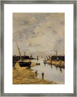 Trouville The Jettys Low Tide 1894 1 Framed Print
