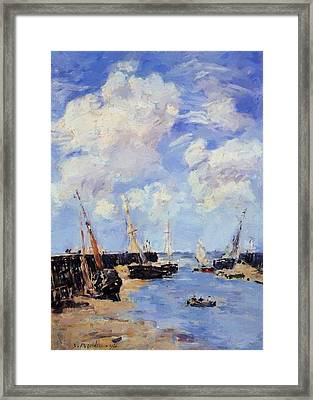 Trouville The Jettys Low Tide 1894 Framed Print