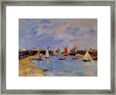 Trouville The Jettys Low Tide Framed Print