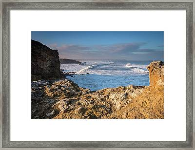 Trow Point At South Shields Framed Print by David Head