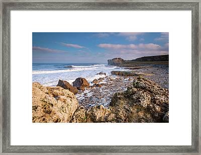 Trow Rocks At South Shields Framed Print by David Head