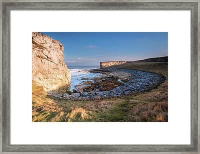 Trow Rocks Sea Bay Framed Print by David Head