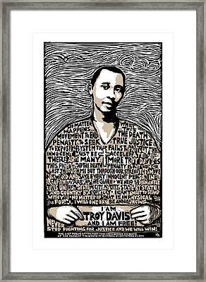 Troy Davis Framed Print by Ricardo Levins Morales