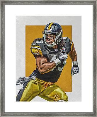 Troy Polamalu Pittsburgh Steelers Art Framed Print